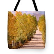 A Colorful Country Road Rocky Mountain Autumn View  Tote Bag