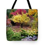 A Colorful Fall Corner Tote Bag