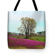 A Colorful Field Tote Bag
