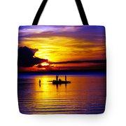 A Colorful Golden Fishermen Sunset Vertical Print Tote Bag