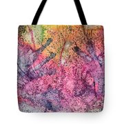 A Colorful Lecture On Glitter Tote Bag