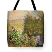 A Corner Of The Garden At Montgeron Tote Bag by Claude Monet