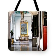 A Corridor In Keraton Sultan Palace Yogyakarta  Tote Bag