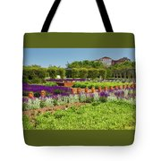 A Corridor Of Purple Sage Flowers And Stachys Lanata Sunlit Tote Bag