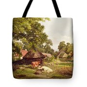 A Cottage Home In Surrey Tote Bag