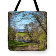 A Country Pathway In Northern England Tote Bag