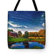 A Country Place Painted Version Tote Bag