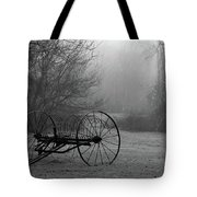A Country Scene In Black And White Tote Bag