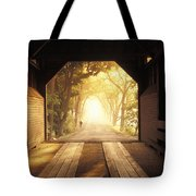 A Covered Bridge In New Market Tote Bag