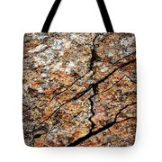 A Crack On A Brown Stone Block Tote Bag