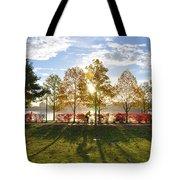 A Crisp Fall Morning Tote Bag