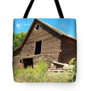 A Crooked Old Barn  Tote Bag