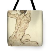 A Crouching Nude Tote Bag