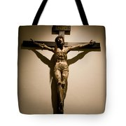 A Crucifix In The Old Saint Francis Tote Bag