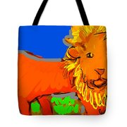 A Curious Lion Tote Bag