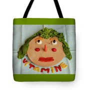 A Cutting-board With Pieces Of Colorful Vegetables  On A Blue  Tablecloth Tote Bag