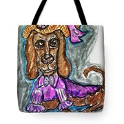 A Dachshund Easter Tote Bag