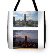 A Day And Night In Atlanta Tote Bag