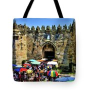A Day At The  Bazaar Tote Bag
