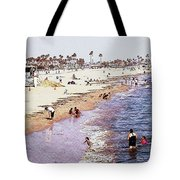 A Day At The Beach - Colored Pens Effect Tote Bag