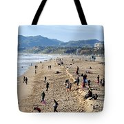 A Day At The Beach In Santa Monica Tote Bag