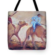 A Day At The Camel Races Tote Bag