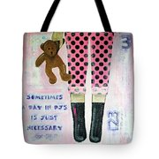 A Day In Pjs Tote Bag