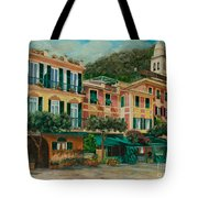 A Day In Portofino Tote Bag by Charlotte Blanchard