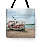 A Day Of Fishing Aground Tote Bag