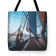 A Day On The Lake Tote Bag