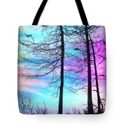 A Day With Dancing Lights Tote Bag