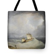 A Deal Lugger Going Off To Storm Bound Ships In The Downs Tote Bag