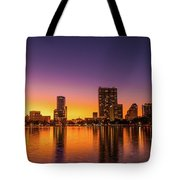 A December Sunset Tote Bag