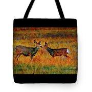 A Deer Kiss Tote Bag
