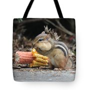 A Delicious Treat - Chipmunk Eating Corn Tote Bag