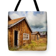 A Deserted Sawmill Town Tote Bag