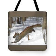 A Devil Named American Red Squirrel Tote Bag