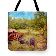 Grist Mill With Flowing Water Tote Bag