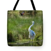 A Disagreement At The Pond Tote Bag