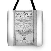 A Discourse On The Damned Art Of Witchcraft Tote Bag