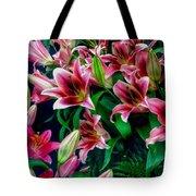 A Display Of Lilies Tote Bag
