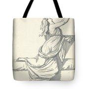 A Distraught Woman With Her Head Thrown Back Tote Bag