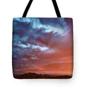 A Divided Sky At Sunset Tote Bag