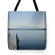 A Dock Juts Into The Tote Bag