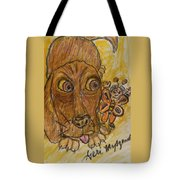 A Dog And It's Bumblebee Tote Bag
