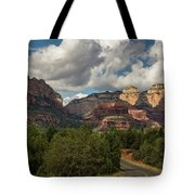 A Drive Through The Red Rocks  Tote Bag