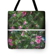 A Drunken Worms View Of A  Flower  Tote Bag
