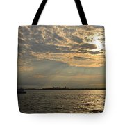 A Evening With Hudson River Tote Bag