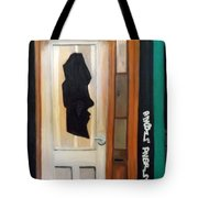 A Face In The Door Tote Bag