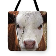 A Face You Can Love - Cow Art #609 Tote Bag
